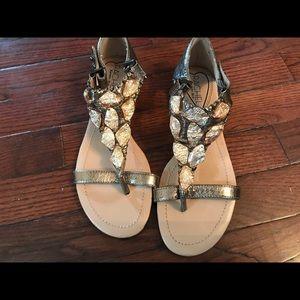 Rachel by Rachel Roy Metallic Sandals Sz 6.5